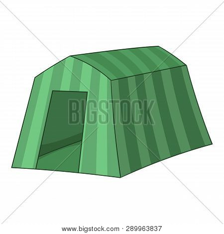Tourist Tent Icon. Cartoon Illustration Of Tourist Tent Icon For Web
