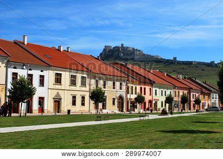 Spisske Podhradie, Slovakia - September 12,2018: The Town Of Spisske Podhradie With The Spis Castle
