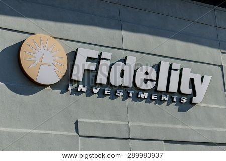 Indianapolis - Circa March 2019: Fidelity Investments Branch. Fidelity Investments Operates A Broker