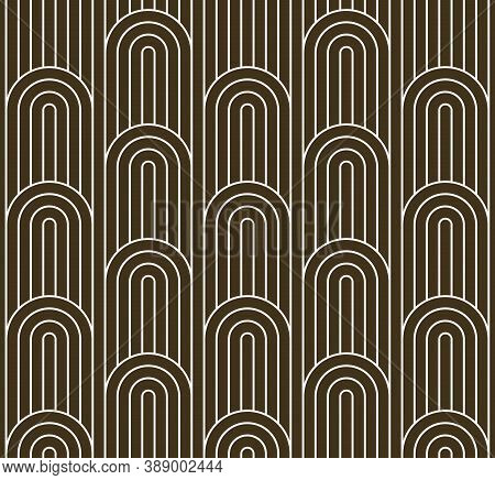 Seamless Linear Vector Geometric Minimalistic Pattern, Abstract Lines Tiling Background, Stripy Weav