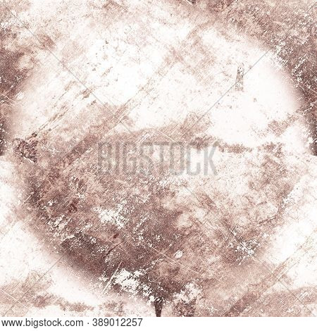 Pale Rough Grunge Wall. Ink Dirt Wallpaper. Overlay Stone Texture. Vintage Sketch. Brown Paint Backg