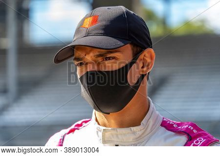 October 01, 2020 - Indianapolis, Indiana, USA: ALEX PALOU (R) (55) of Barcelona, Spain  prepares to practice for the Harvest GP at the Indianapolis Motor Speedway in Indianapolis, Indiana.