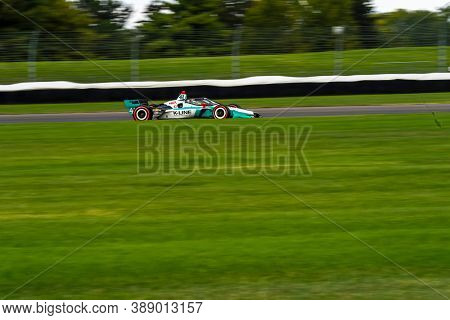 October 03, 2020 - Indianapolis, Indiana, USA: DALTON KELLETT (R) (41) of Stouffville Canada  races through the turns during the  race for the Harvest GP at Indianapolis Motor Speedway