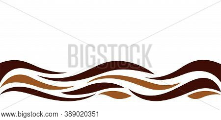 Wave Form Graphic Brown Color, Water Waves Brown For Background, Brown Graphic Ripples For Banner Ba