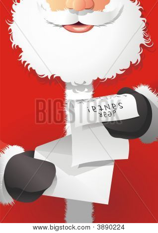 Santa Claus With Letter