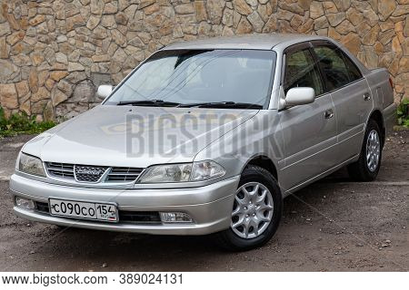 Novosibirsk, Russia - 08.21.2020: Front View Of A Japanese-made Car Toyota Carina 2000 Year Release