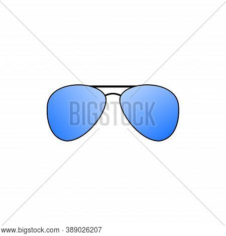 Grey Colored Old-fashioned Glasses Isolated On White Background