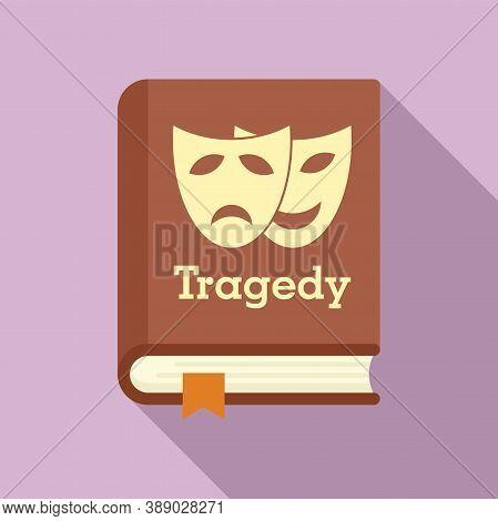 Tragedy Literary Genre Book Icon. Flat Illustration Of Tragedy Literary Genre Book Vector Icon For W