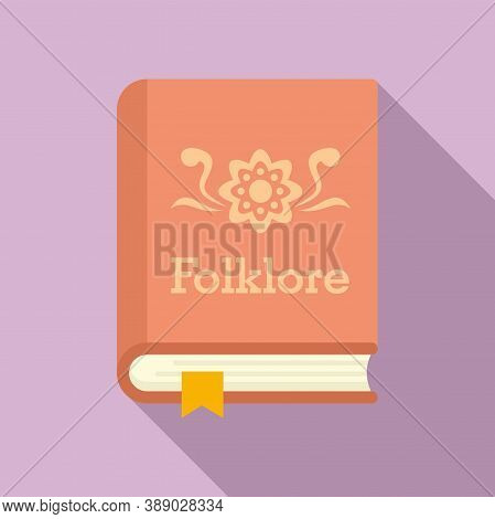 Folklore Book Icon. Flat Illustration Of Folklore Book Vector Icon For Web Design