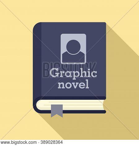 Graphic Novel Book Icon. Flat Illustration Of Graphic Novel Book Vector Icon For Web Design