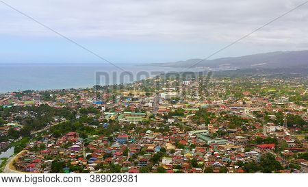 Aerial View Of Iligan Is A City Located On The Island Of Mindanao, Philippines. Iligan City, Lanao D