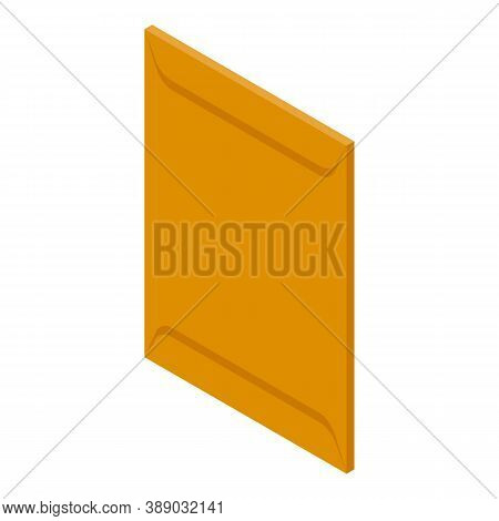 Carton Envelope Icon. Isometric Of Carton Envelope Vector Icon For Web Design Isolated On White Back