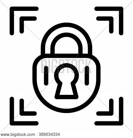 Padlock Reliability Icon. Outline Padlock Reliability Vector Icon For Web Design Isolated On White B