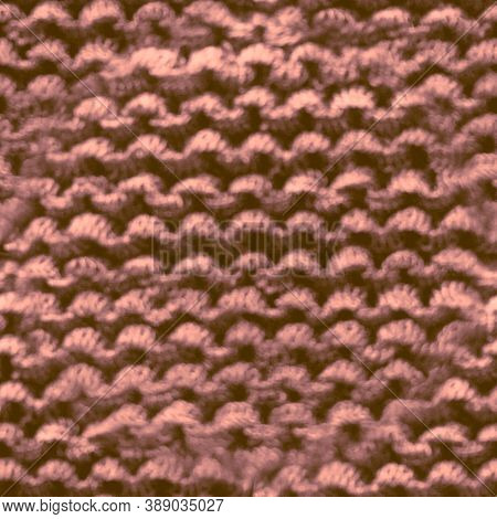 Seamless Wool Texture Pattern. Jacquard Design. Beige Knitted Fabric. Vintage Christmas Plaid. Nude