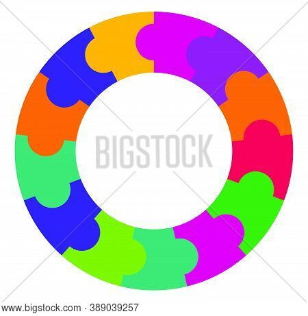 Segmented Circle(s) From 2 To 20 Parts. Circular Pie-chart, Pie-graph Infographics Template, Element