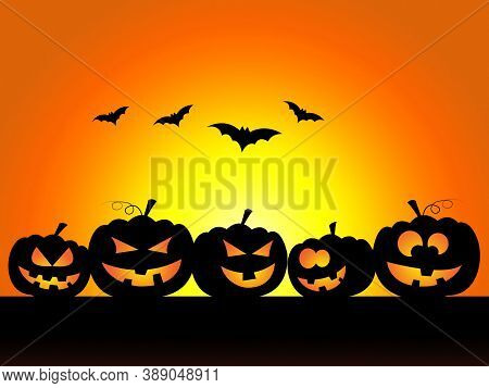 Pumpkin Halloween Meaning Trick Or Treat And Squash Autumn.halloween Night,halloween Clip Art,hallow