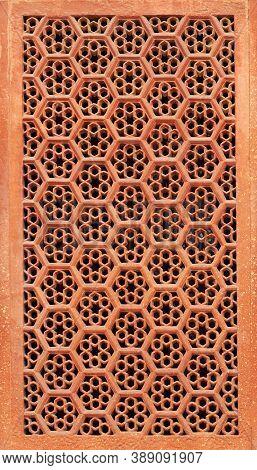 Detail Of Gate Area In Taj Mahal Complex. Agra, Uttar Pradesh, India