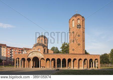 The Orthodox Church Building In Detelinara In Novi Sad In Serbia.