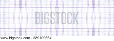 Purple Flannel Checks. Watercolor Plaid Texture. Vintage Checkered Ornament. Seamless Flannel Checks