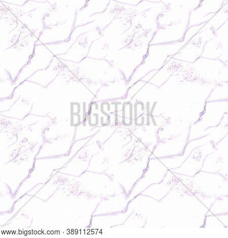 Watercolor Cherry Blossom Tree. Seamless Apple Wallpaper. Japanese Petal Drawing. Purple Artisctic S