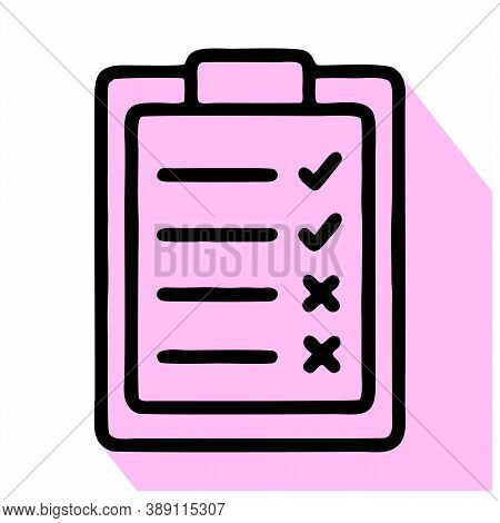 Checklist Icon Isolated On White Background From Seo And Website Collection. Checklist Icon Trendy A