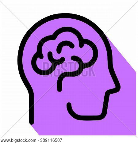 Human Brain Icon Isolated On White Background From Science Collection. Human Brain Icon Trendy And M