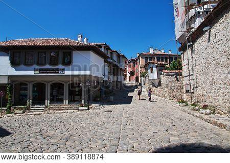 Plovdiv, Bulgaria - 12 Jul 2015: The Vintage Street In Plovdiv, Bulgaria