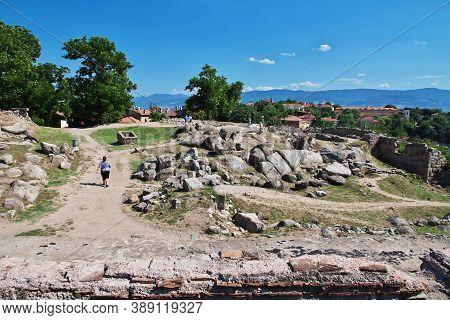 Plovdiv, Bulgaria - 12 Jul 2015: Archaelogical Complex Nebet Tepe In Plovdiv, Bulgaria