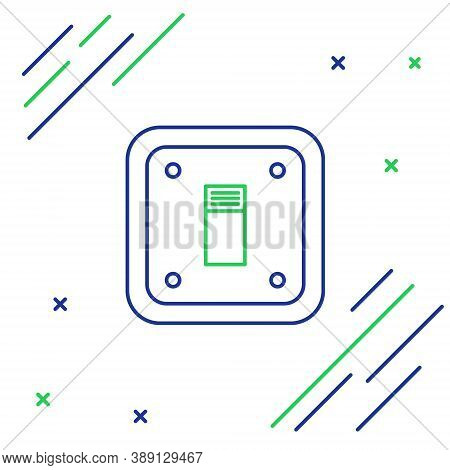 Line Electric Light Switch Icon Isolated On White Background. On And Off Icon. Dimmer Light Switch S