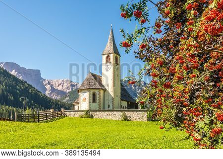 Nature And Church Of San Vito In San Vito Village In South Tyrol - Italy