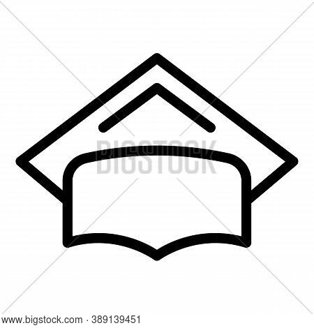 Graduation Hat Icon. Outline Graduation Hat Vector Icon For Web Design Isolated On White Background