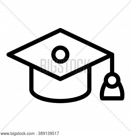 Ceremony Graduation Hat Icon. Outline Ceremony Graduation Hat Vector Icon For Web Design Isolated On