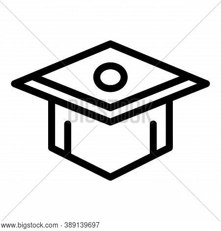 College Graduation Hat Icon. Outline College Graduation Hat Vector Icon For Web Design Isolated On W
