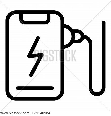 Modern Phone Charger Icon. Outline Modern Phone Charger Vector Icon For Web Design Isolated On White