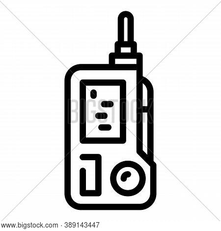 Walkie Talkie Rescuer Icon. Outline Walkie Talkie Rescuer Vector Icon For Web Design Isolated On Whi