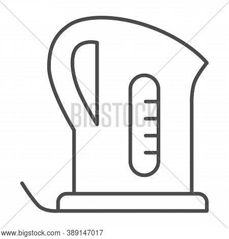 Electric Kettle Thin Line Icon, Kitchen Appliances Concept, Teapot Sign On White Background, Teakett