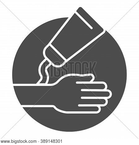 Ointment And Hand Solid Icon, Health And Medical Concept, Hypoallergenic Cream Sign On White Backgro