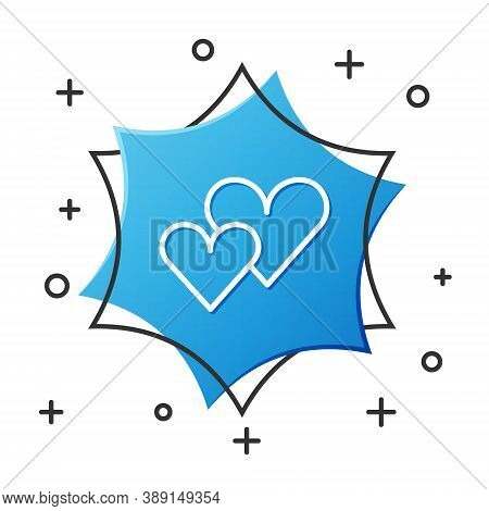 White Line Heart Icon Isolated On White Background. Romantic Symbol Linked, Join, Passion And Weddin