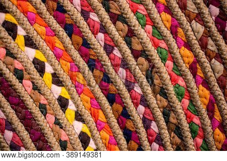 The Texture Of String, Weaving From String Background