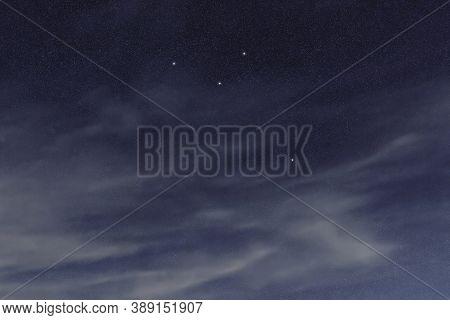 Octans Star Constellation, Night Sky, Cluster Of Stars, Deep Space,octans Hadleianus, Octant Conste