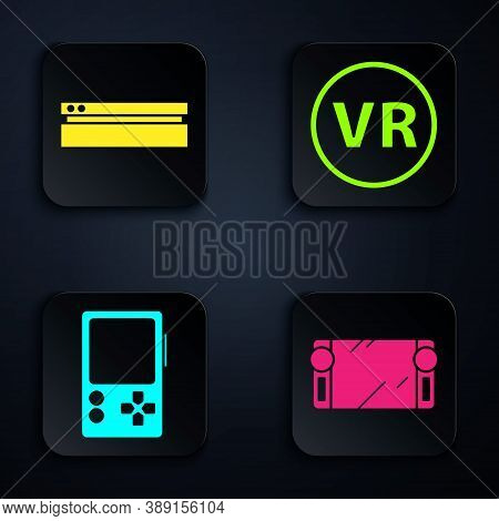 Set Portable Video Game Console, Video Game Console, Portable Video Game Console And Virtual Reality