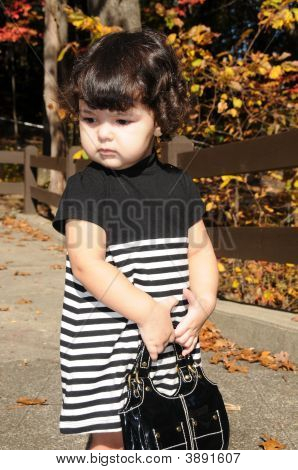 Curly Hair With Purse