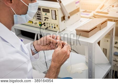 Cardiologist Use Tubes For Radiofrequency Catheter Ablation.