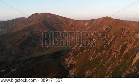 Topview Of Gorgeous Mountains. Beautiful Place For Hiking.