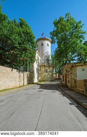 Old Castle In The Cesis Town, Latvia