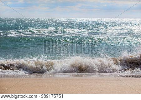 Beautiful Waves On The Sea Shore Photo