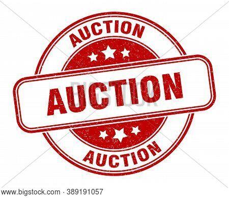 Auction Stamp. Auction Round Grunge Sign. Label