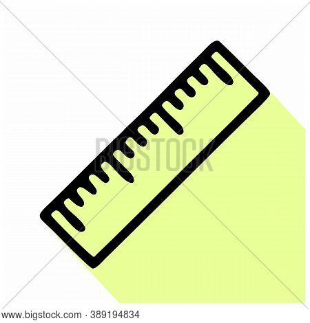 Rulers Icon Isolated On White Background From School And Education Line Collection. Rulers Icon Tren