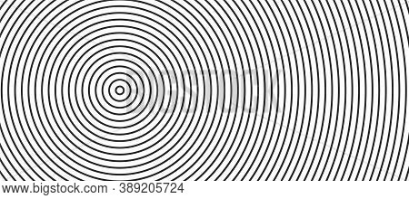 Vector Abstract Circles Halftone Black And White Background. Line Pattern Design. Monochrome Graphic