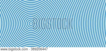 Concentric Circle Geometric Vector Halftone Background. Abstract Round Swirl Line Seamless Pattern.
